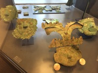 Moche copper masks